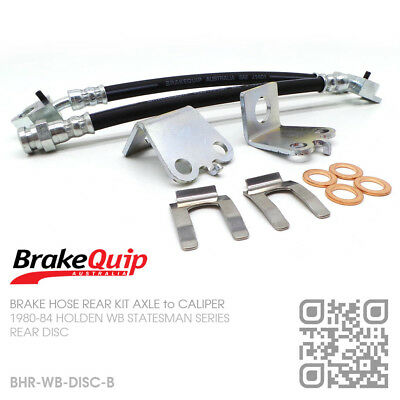 BRAKEQUIP BRAKE HOSE KIT REAR AXLE to CALIPER [HOLDEN WB STATESMAN/CARICE]