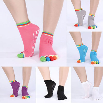 Full Toe Ankle Pilates Yoga Dance Martial  Arts Non Slip  Exercise Socks
