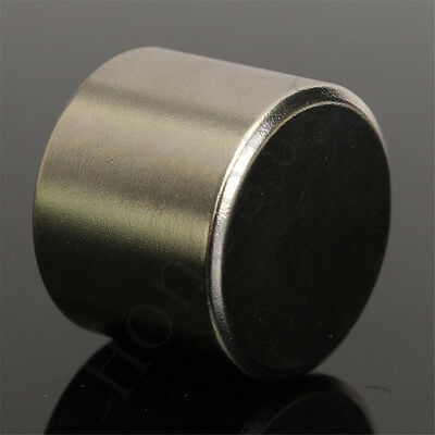 1x Super Strong Round Cylinder Fridge Magnet 25x20mm Rare Earth Neodymium N52