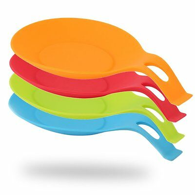 Heat Resistant Kitchen Utensil Spatula Silicone Spoon Holder Cooking Tool# MC