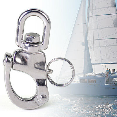 Stainless Steel Snap Shackle Quick Release Swivel Bail Rigging Marine Boat Yacht