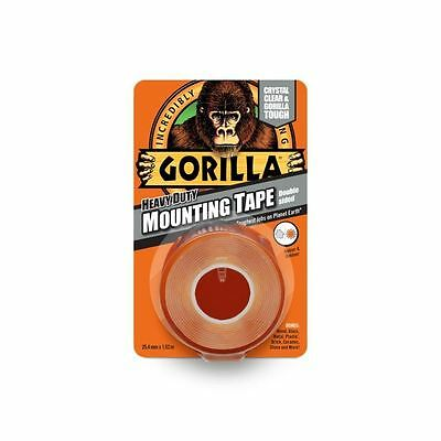 Gorilla Glue Heavy Duty Double Sided Mounting Tape  Weatherproof Clear 1.5M