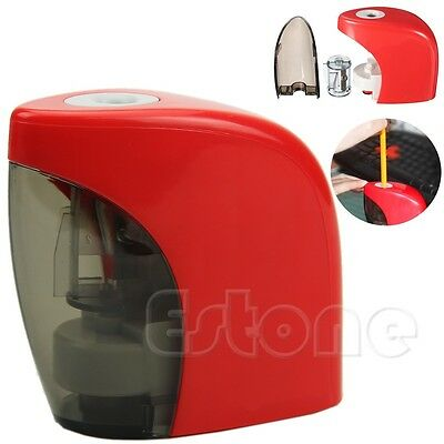 Red Automatic Desktop Pencil Sharpener Electric Touch Switch Home School Office