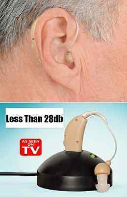 Rechargeable Digital Hearing Aid Adjustable Tone Sound Amplifier Acousticon IB