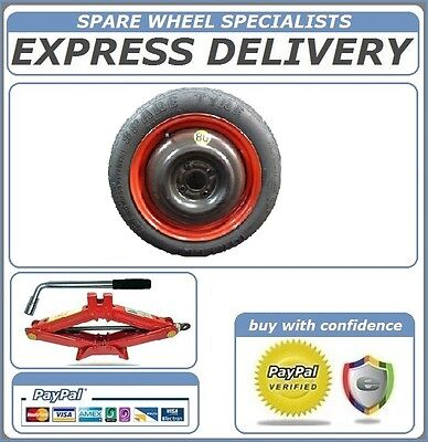 """CITROEN DS3 2010-2018 SPACE SAVER SPARE WHEEL 16"""" LIFTING JACK ref:801 + BOLTS"""