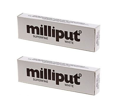 2 x Milliput Superfine 2 Part Self Hardening Epoxy Putty White DIY - 113g / 4oz