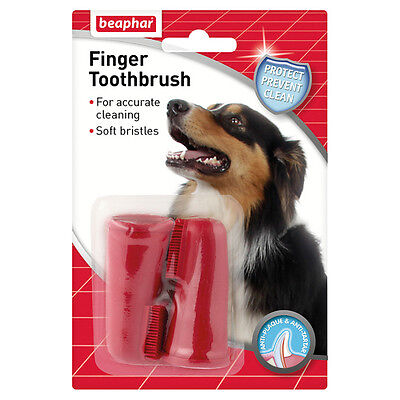 Beaphar chien-A-Dent Chiens doigt - brosse à dents, NEUF