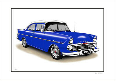62' Ek Holden Sedan    Limited Edition Car Print Automotive Artwork