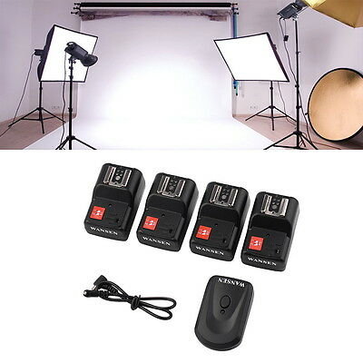 PT-04 GY 4 Channels Wireless/Radio Flash Trigger SET with 4 Receivers FG