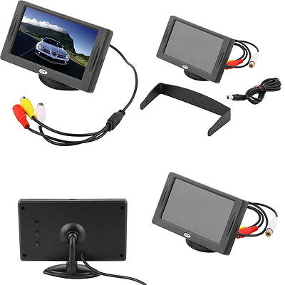 4.3 inch TFT LCD Car Monitor Reverse Rearview Color Camera DVD VCR CCTV FG