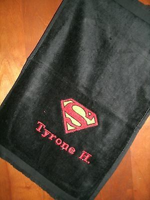 Superman Personalized Golf, Bowling, Sport or Disc Golf Towel Any Superhero