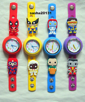 X-Men Jibbitz Band Watch  & A Set Of 8 Charms, Brand New
