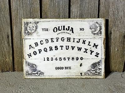 Ouija Board H30cm X W40cm - Rustic Vintage Style Timber Sign