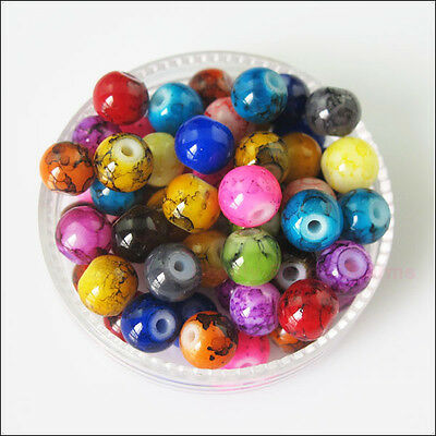 New Charms Glass Chic Loose Round Ball Spacer Beads Mixed 4mm 6mm 8mm 10mm 12mm