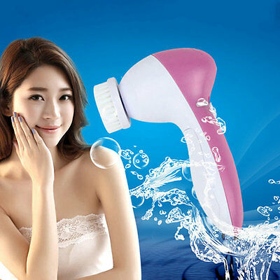 Electric Multifunction Face Spa Skin Care Massage Facial Cleansing Brush AU