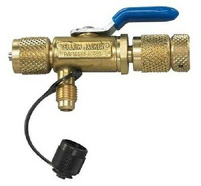 "Yellow Jacket 18975 1/4"" 4-in-1 Ball Valve Tool - Core Removal w/ Side Port"