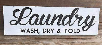LAUNDRY Rustic LARGE Wood Sign Fixer Upper Farmhouse Primitive Distressed HGTV