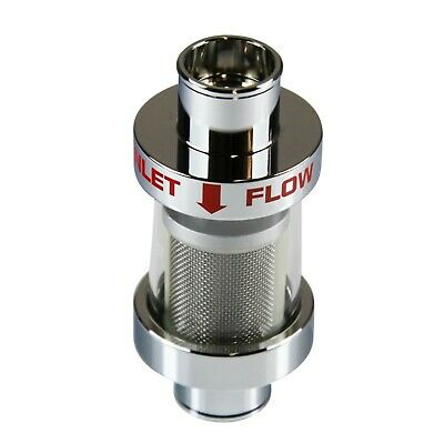 Radiator Coolant Filter Alloy See Thru Glass 32mm Hose Size Chrome