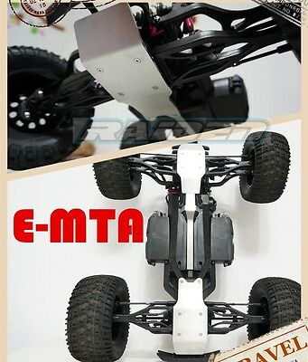 Thunder Tiger E-MTA G2 Stainless Steel Chassis Armor Front & Rear Skid Plate