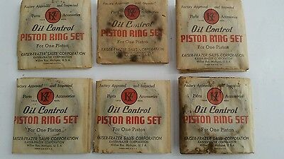 Piston Ring Set, L226 Engine Kaiser-Frazer 203145 NOS