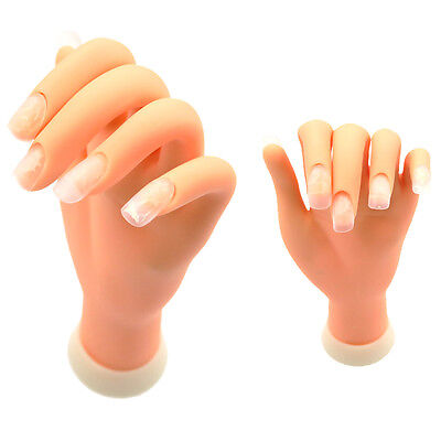 Flexible Soft Plastic Hand Model for Nail Art Practice Training Manicure Tool #5