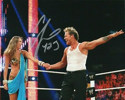 CHRIS JERICHO Y2J SIGNED WWE WRESTLING 8x10 PHOTO WITH COA & PROOF FOZZY