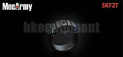MecArmy SKF2T Titanium GITD Glass Breaker Tungsten Strike Ring Necklace 22mm
