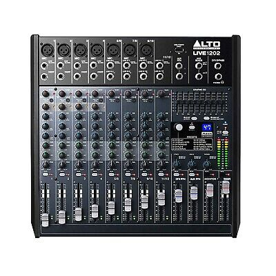 Alto Professional Live 1202 12-Channel 2-Bus Mixer w/USB,  DSP Effects & Preamps