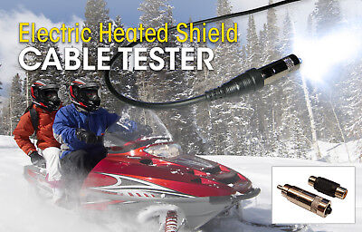 Electric Heated Shield Cable Tester, Hjc Snowmobile Visor Power Cord Wire Tester
