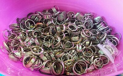 Lot of 1000 grams of sterling silver 925 rings all wear no scrap