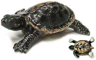 "Little Critterz Miniature Porcelain Animal Figure Box Turtle /""Dom/"" LC308"