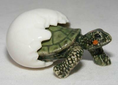 Northern Rose Miniature Porcelain Animal Figure Tortoise Hatching Green R322