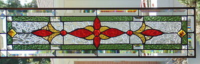 """Stained Glass Transom window hanging 28 1/2 X 7 1/2"""""""