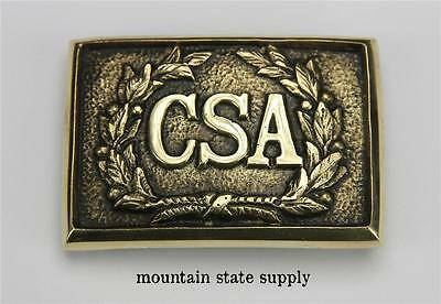 US Civil War South Confederate States of America Officer's CSA Brass Belt Buckle