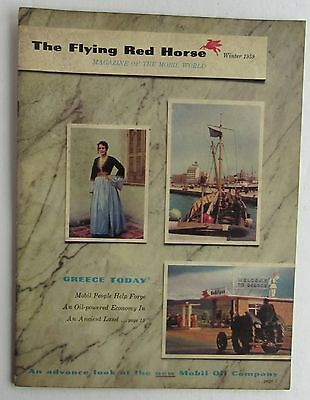The Flying Red Horse Magazine Of The Mobil World Winter 1959 Rare