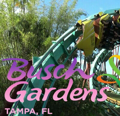 BUSCH GARDENS TAMPA Admission &Free All Day Dine Tickets $89 Promo ...