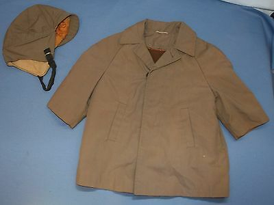 Boys Toddlers Vintage coat & Hat Busy B Dress Barn Sz 2T Zip out Lining 1950's