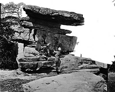 New 11x14 Civil War Photo: Umbrella Rock on Lookout Mountain, Chattanooga, Tenn.
