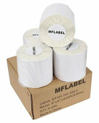 450/Roll 4x6 Direct Thermal Shipping Label Zebra ZP450 Eltron 2844 Free Shipping