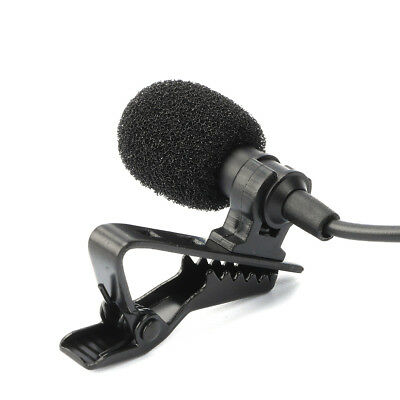 Deluxe Lavalier Lapel Microphone Clip-on Omnidirectional Condenser Mic for Sony
