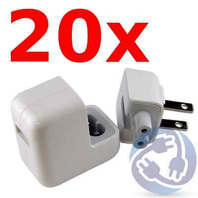 LOT - 20X USB Wall Charger Power AC Adapter for iPad 1 2 3 4 Mini Air 10W 2.1A