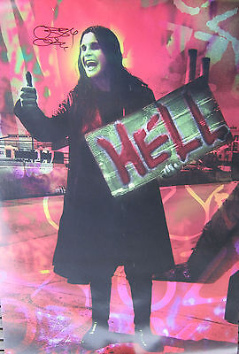 """Ozzy Osbourne Signed Hitch Hiker, Hell Poster 23""""x35"""""""