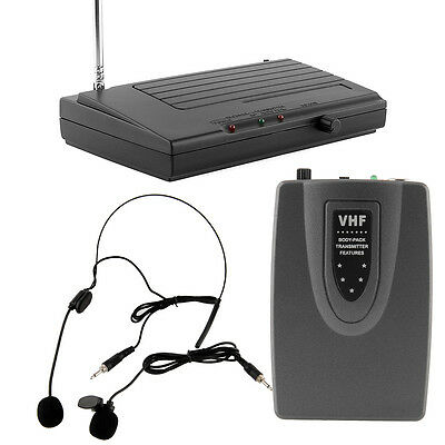 WIRELESS Lapel Headset MICROPHONE SYSTEM Set Suitable Public Speaking Stage