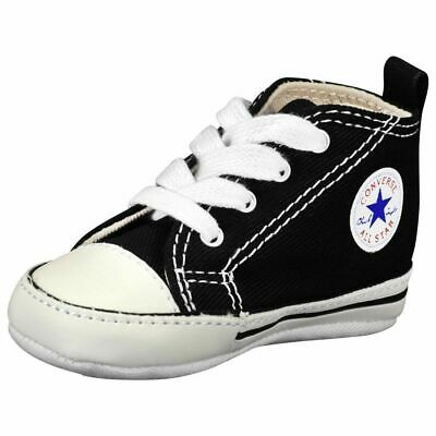 Converse Black White Infant Boy Girl Baby Crib Shoes New Born All Sizes