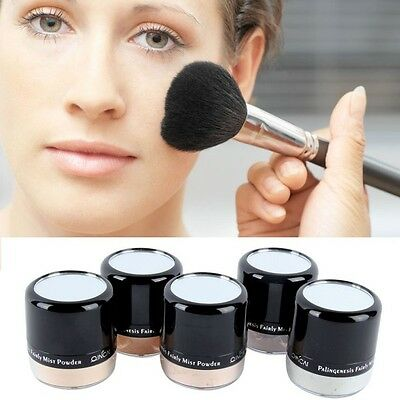 Women Makeup Smooth Skin Face Loose Powder Mineral Foundation Concealer Cosmetic