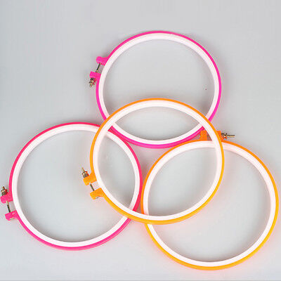 New Colorful Embroidery Cross Stitch Machine Hoop Ring 5/6.5/7.1/7.9 Inch Tool