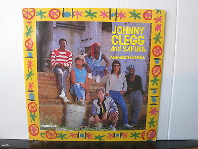 "JOHNNY CLEGG AND SAVUKA Asimbonanga EMI RECORDS 12"" VINYL Free UK Post"