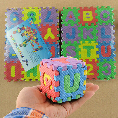 Kids Child Mini Foam Alphabet Letters Numbers Play Education Mat Jigsaw Puzzle