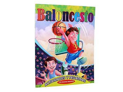 Coloreable Baloncesto Activ. Y Pegatinas