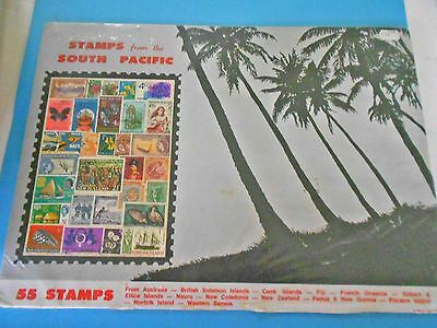 Vintage Stamps From The South Pacific -  55 Stamps - In Original Packet